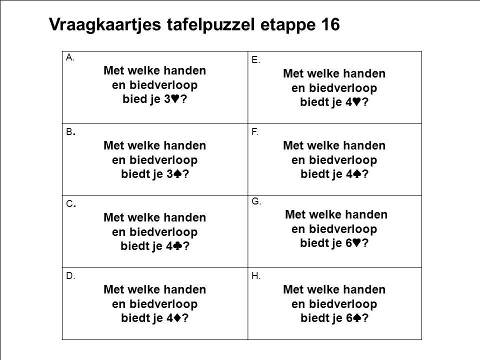 Vraagkaartjes tafelpuzzel etappe 16