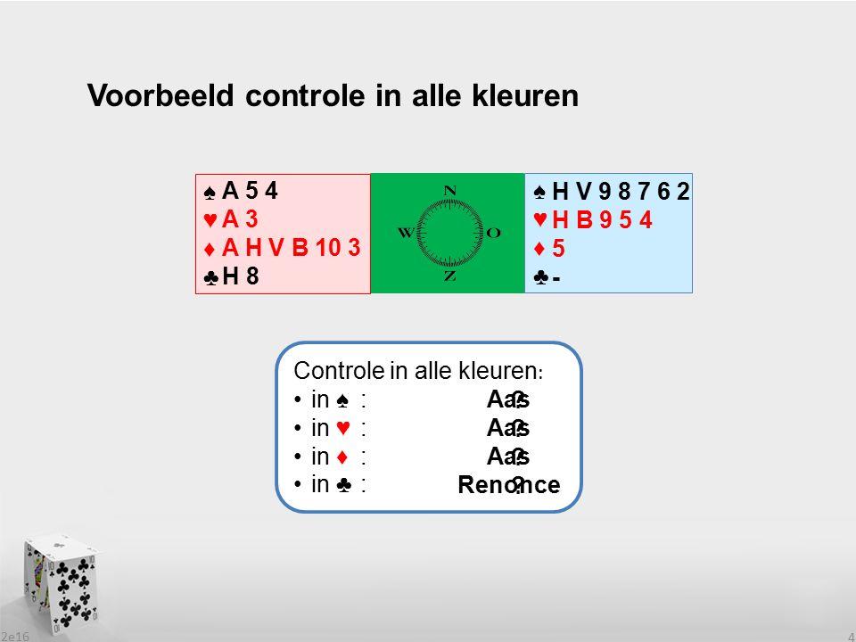 Voorbeeld controle in alle kleuren