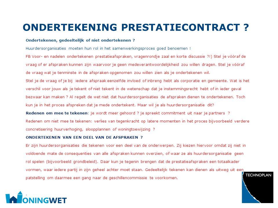 Ondertekening prestatiecontract
