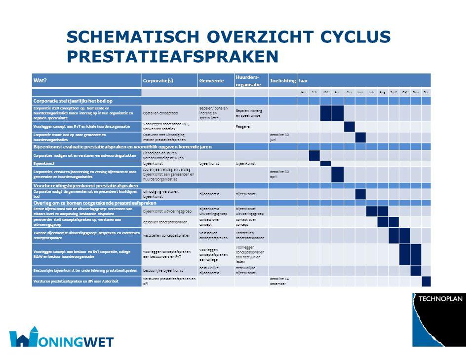 schematisch overzicht cyclus prestatieafspraken