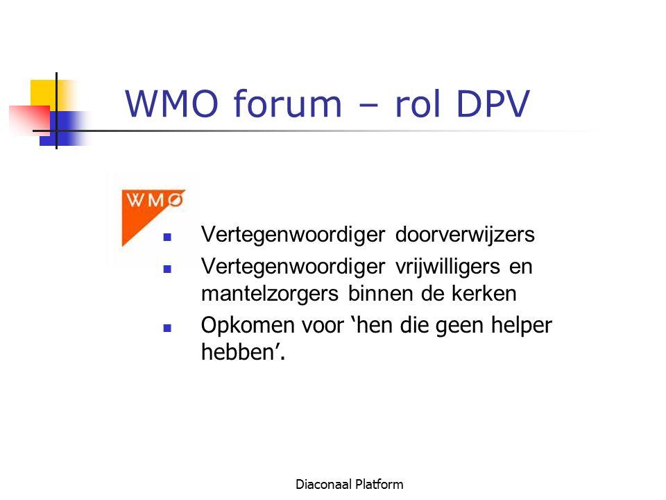 WMO forum – rol DPV Vertegenwoordiger doorverwijzers