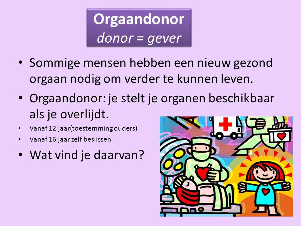 Orgaandonor donor = gever