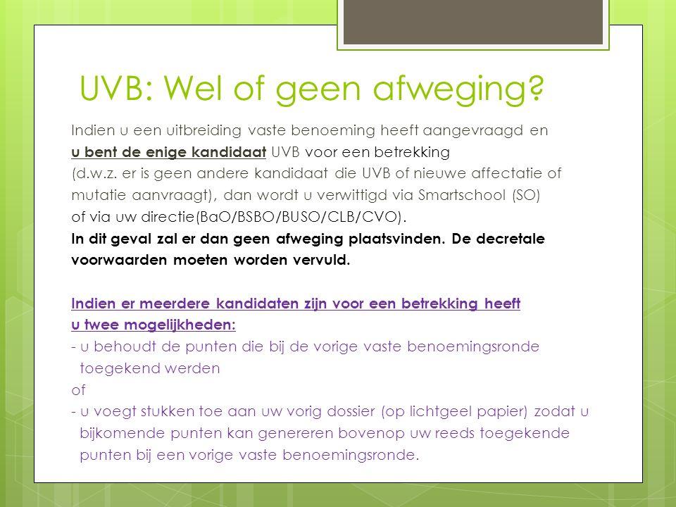 UVB: Wel of geen afweging