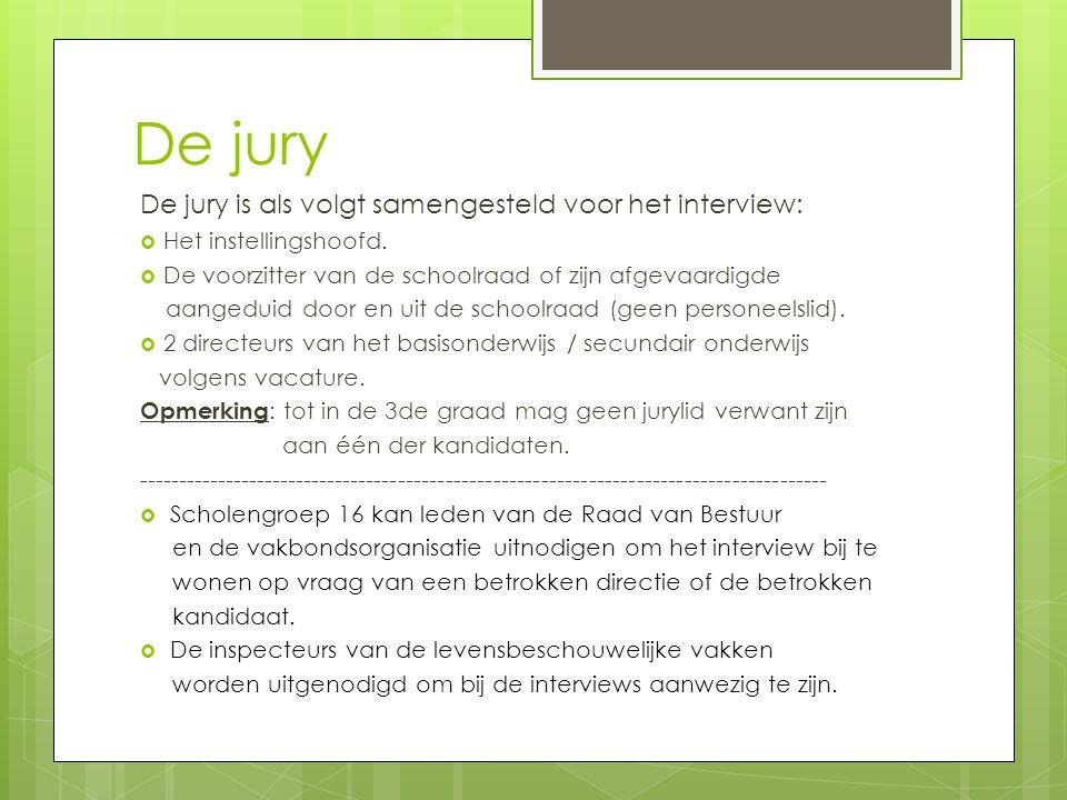 De jury De jury is als volgt samengesteld voor het interview: