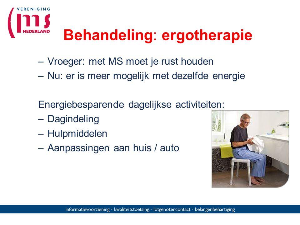 Behandeling: ergotherapie