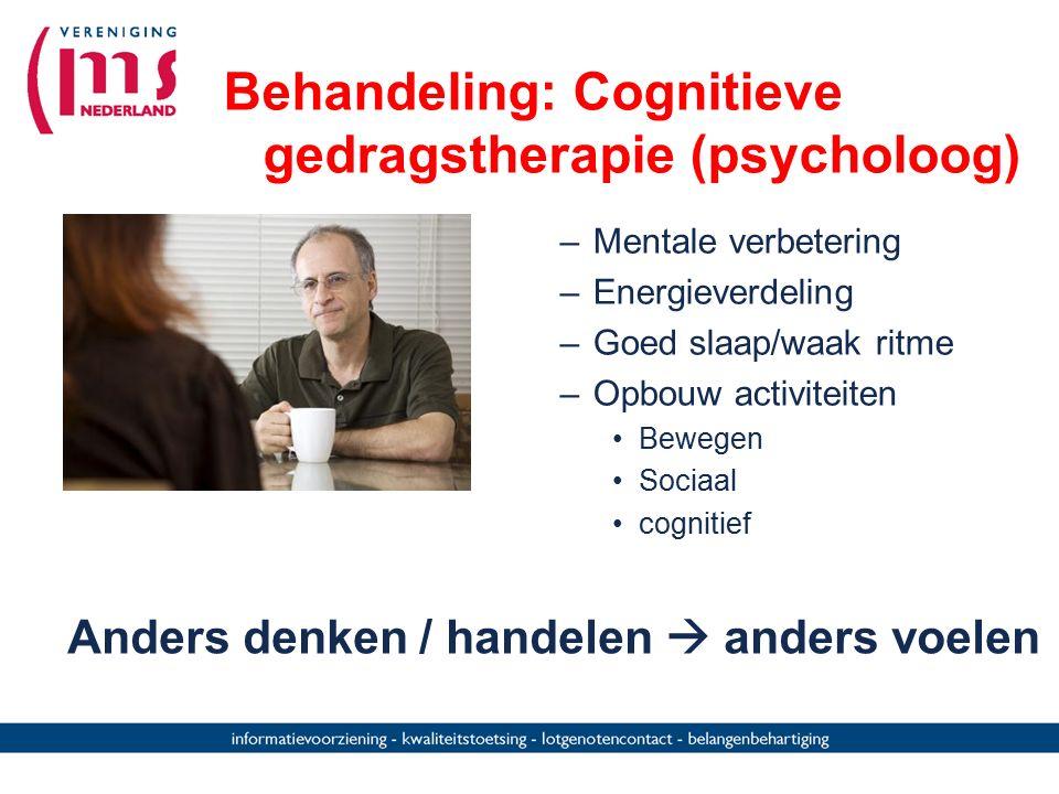 Behandeling: Cognitieve gedragstherapie (psycholoog)