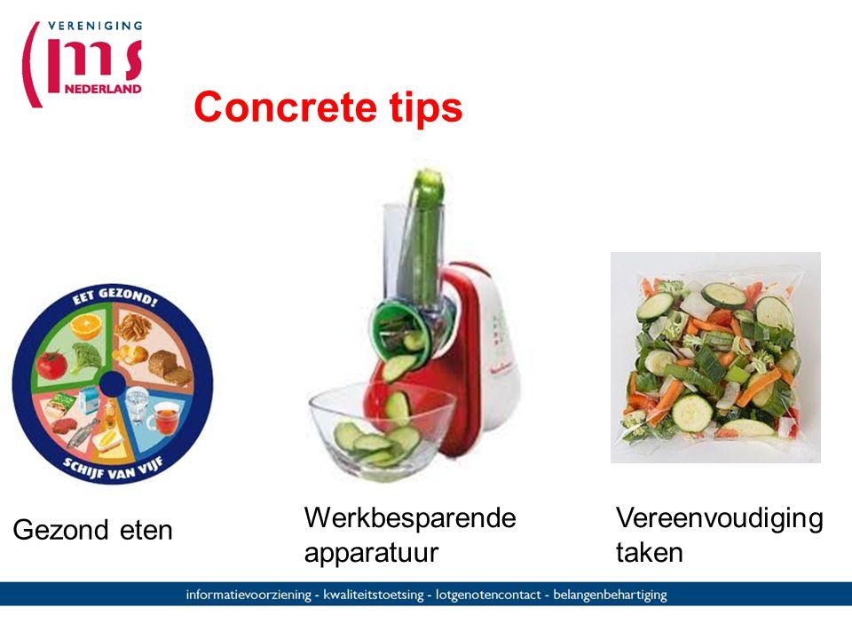Concrete tips Werkbesparende apparatuur Vereenvoudiging taken