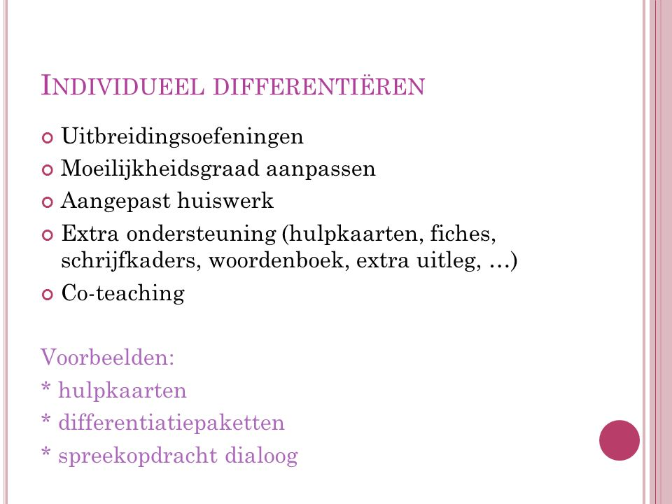 Individueel differentiëren