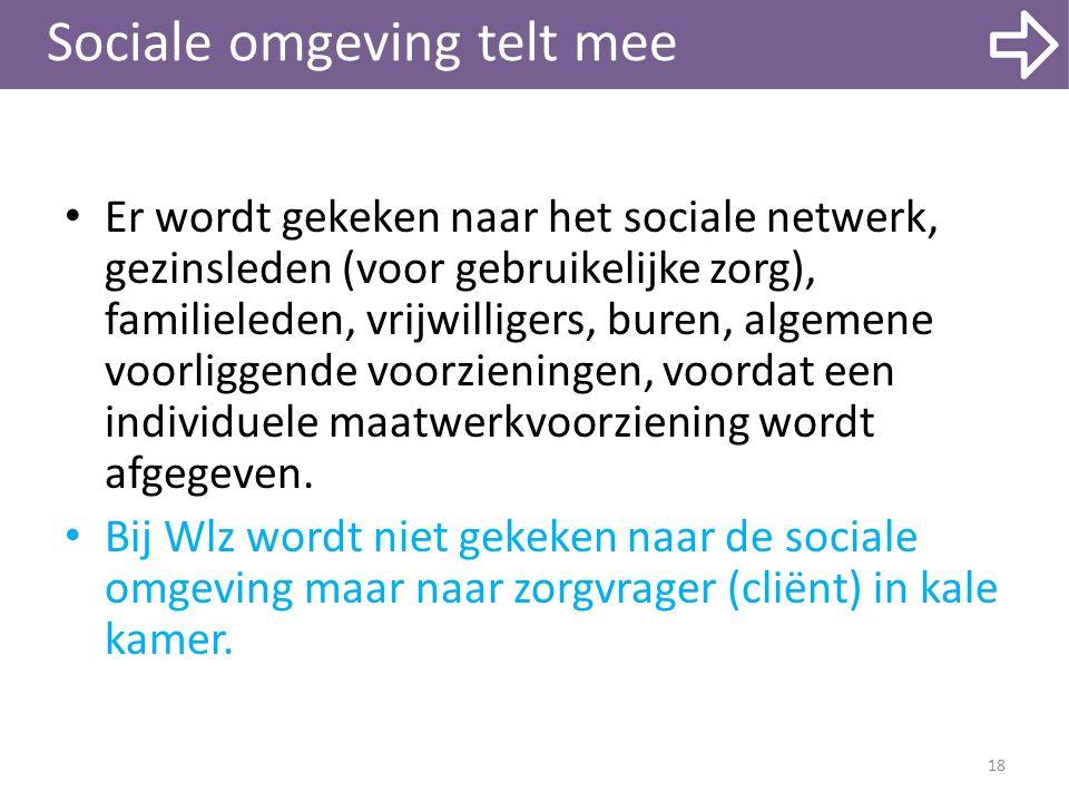 Sociale omgeving telt mee