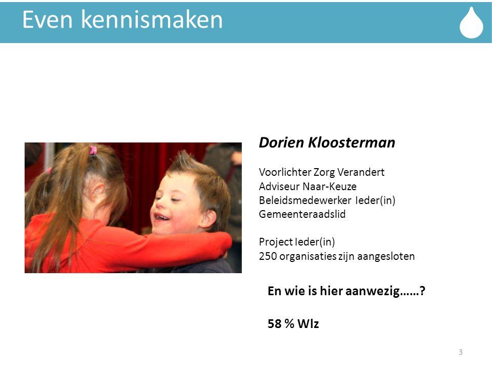 Even kennismaken Dorien Kloosterman En wie is hier aanwezig……