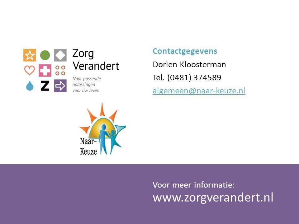 Contactgegevens Dorien Kloosterman Tel
