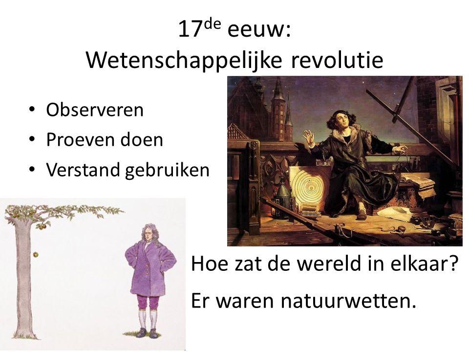 17de eeuw: Wetenschappelijke revolutie