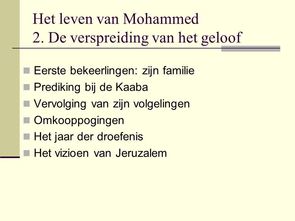 Het leven van Mohammed 2. De verspreiding van het geloof