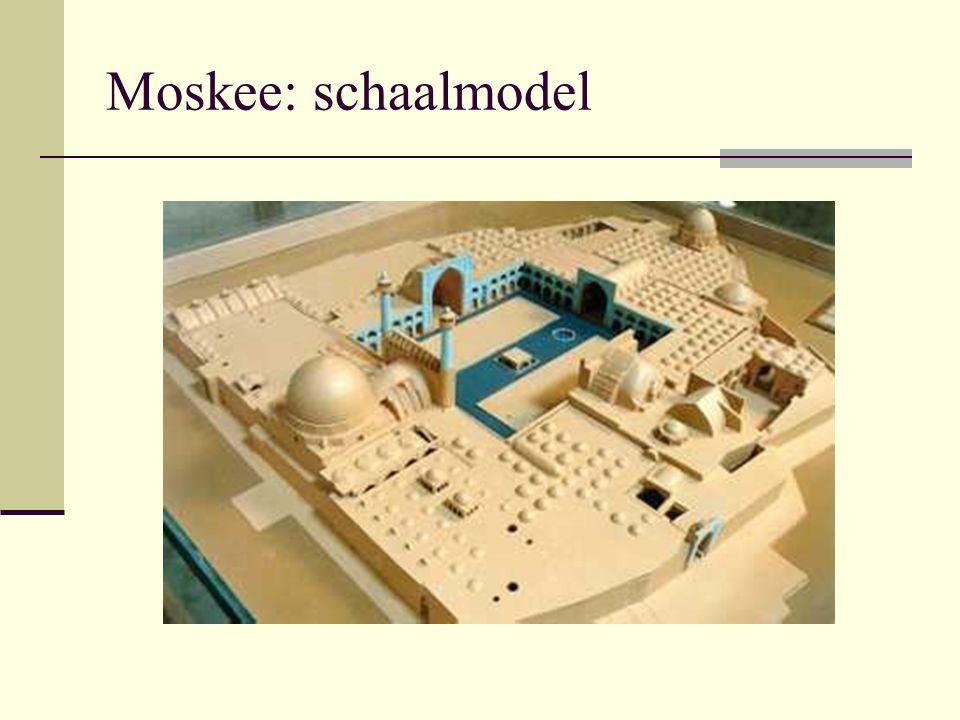 Moskee: schaalmodel