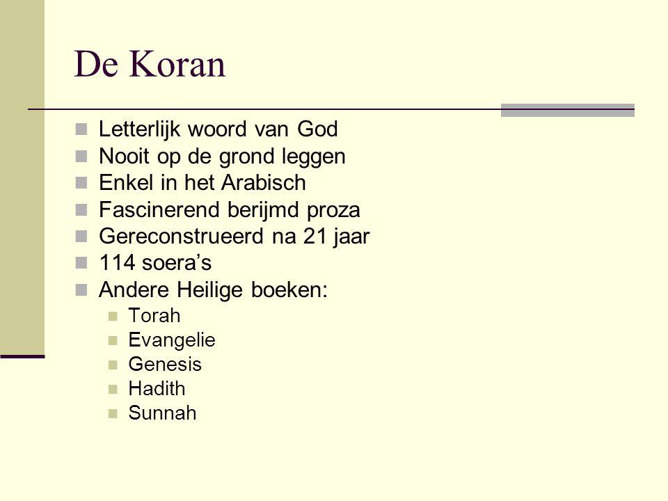De Koran Letterlijk woord van God Nooit op de grond leggen