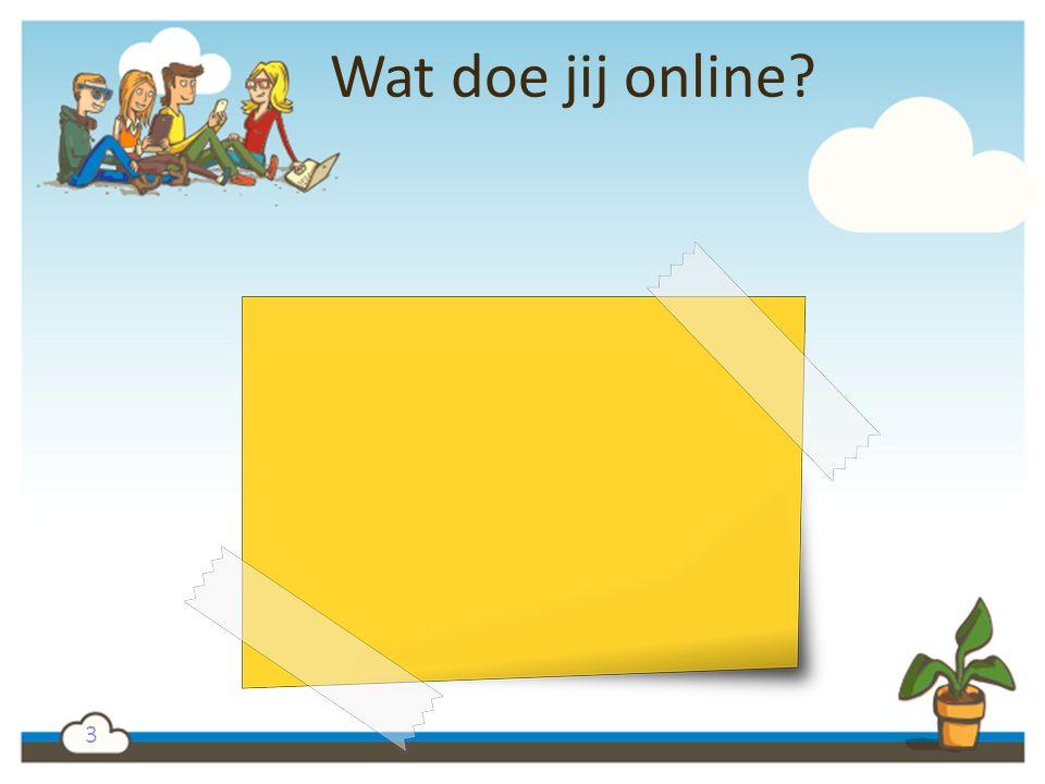 Wat doe jij online