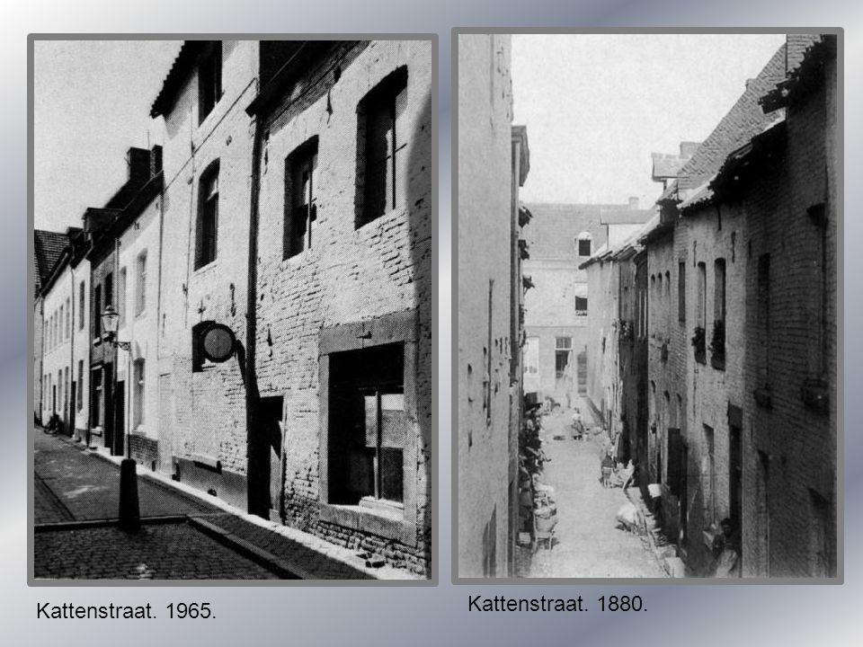 Kattenstraat. 1880. Kattenstraat. 1965.