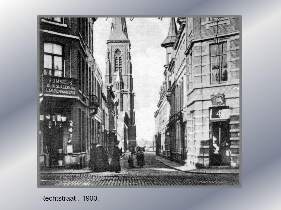 Rechtstraat . 1900.