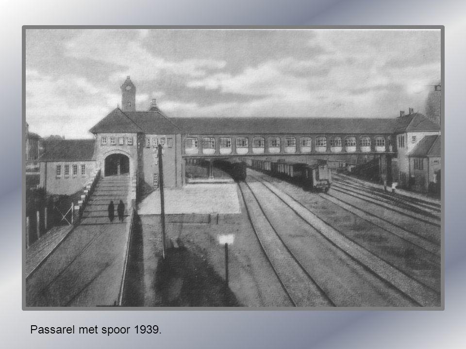 Passarel met spoor 1939.