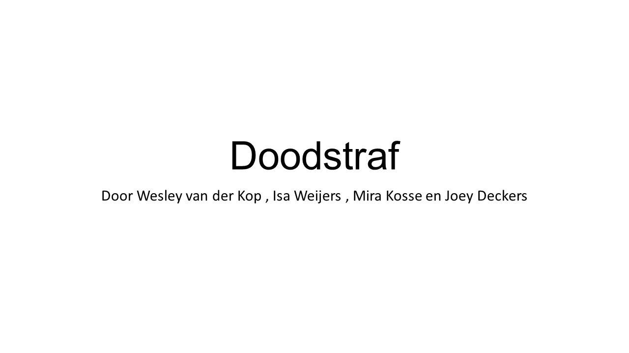 Door Wesley van der Kop , Isa Weijers , Mira Kosse en Joey Deckers