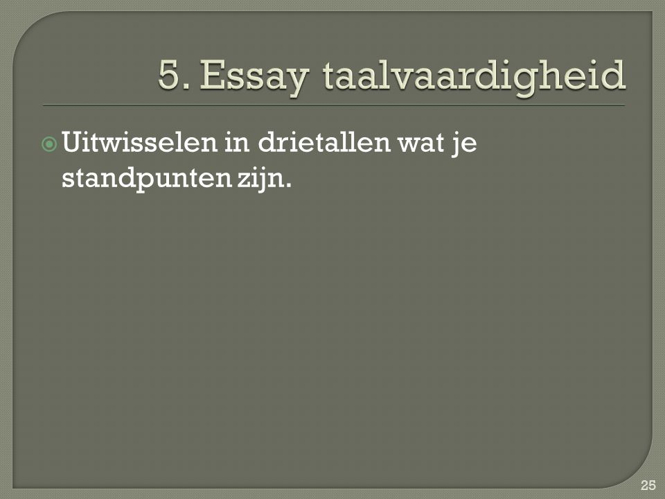 5. Essay taalvaardigheid