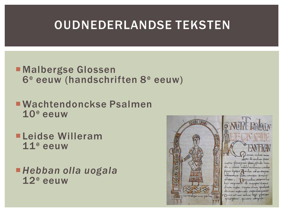 oudnederlandse teksten