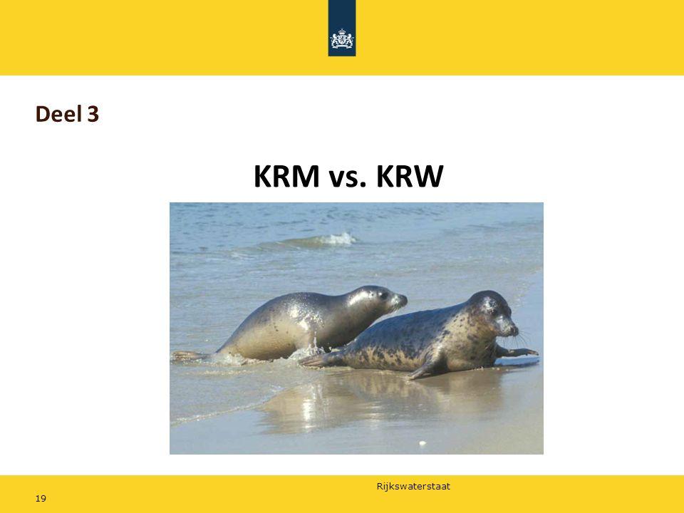Deel 3 KRM vs. KRW Tenslotte de vergelijking tussen KRM en KRW