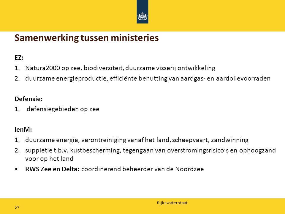 Samenwerking tussen ministeries