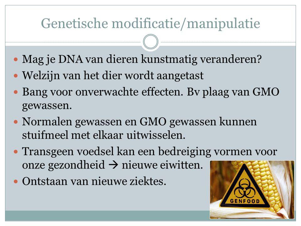 Genetische modificatie/manipulatie