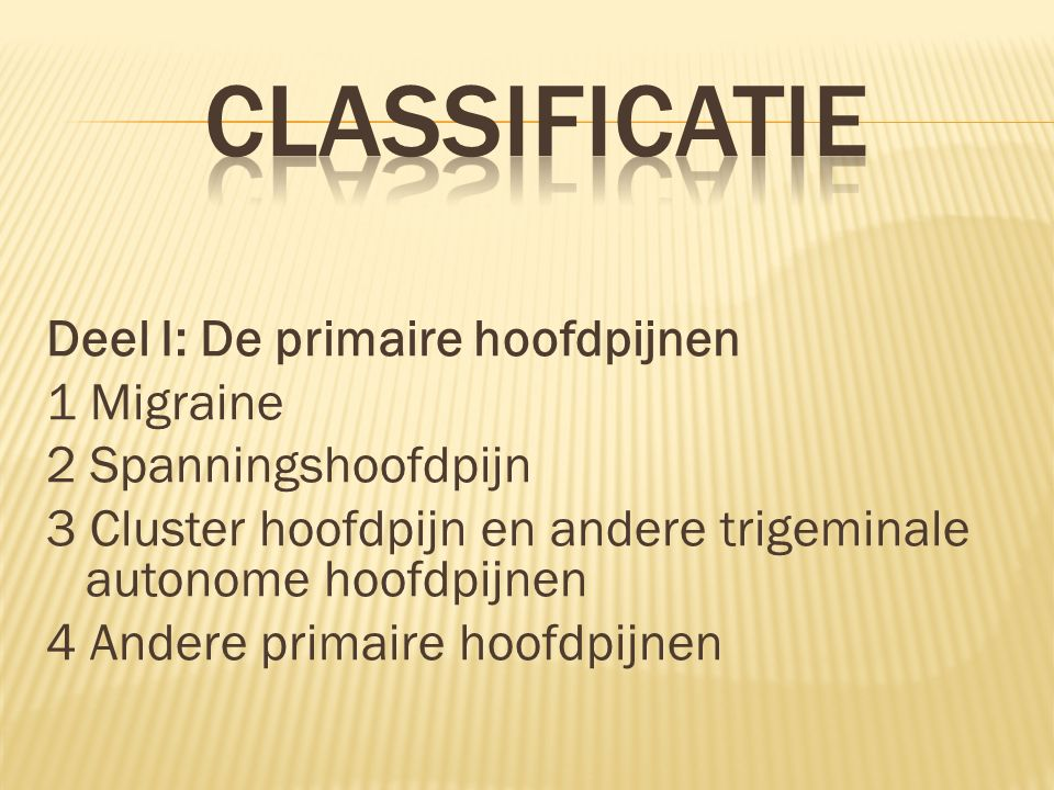 classificatie