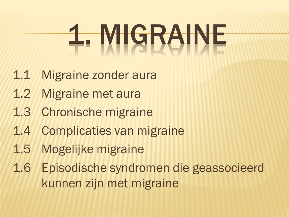 1. Migraine