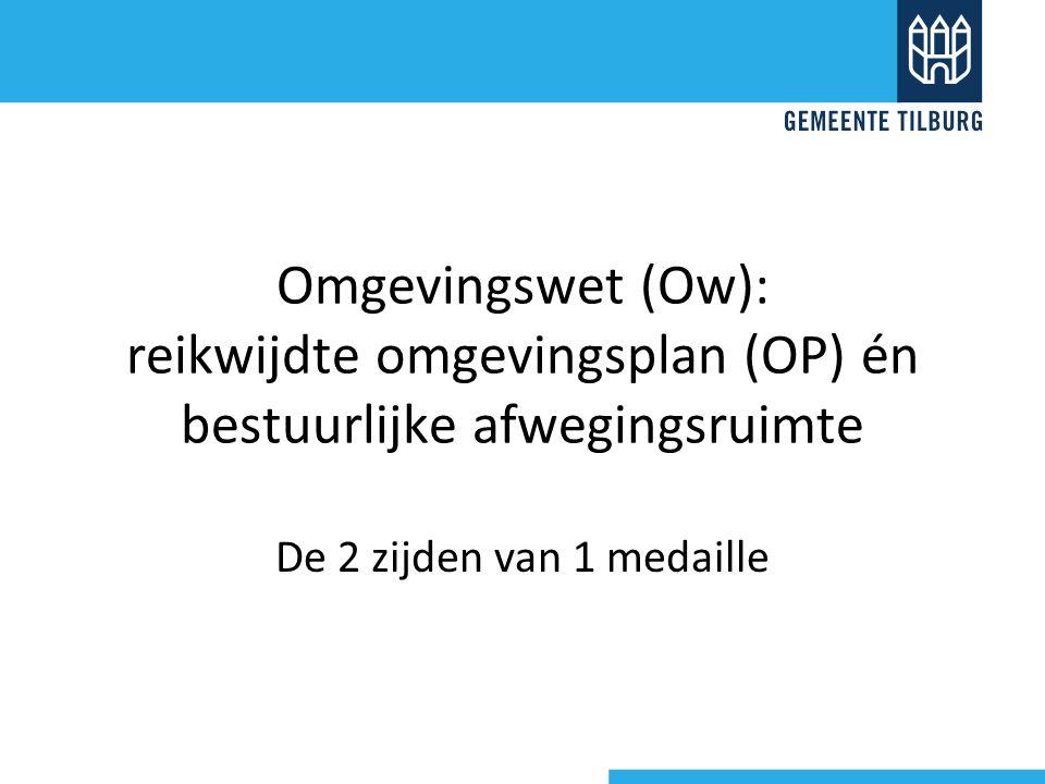 Omgevingswet (Ow): reikwijdte omgevingsplan (OP) én bestuurlijke afwegingsruimte