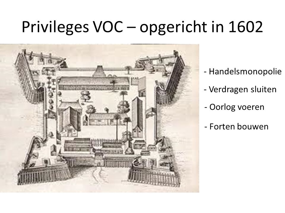 Privileges VOC – opgericht in 1602