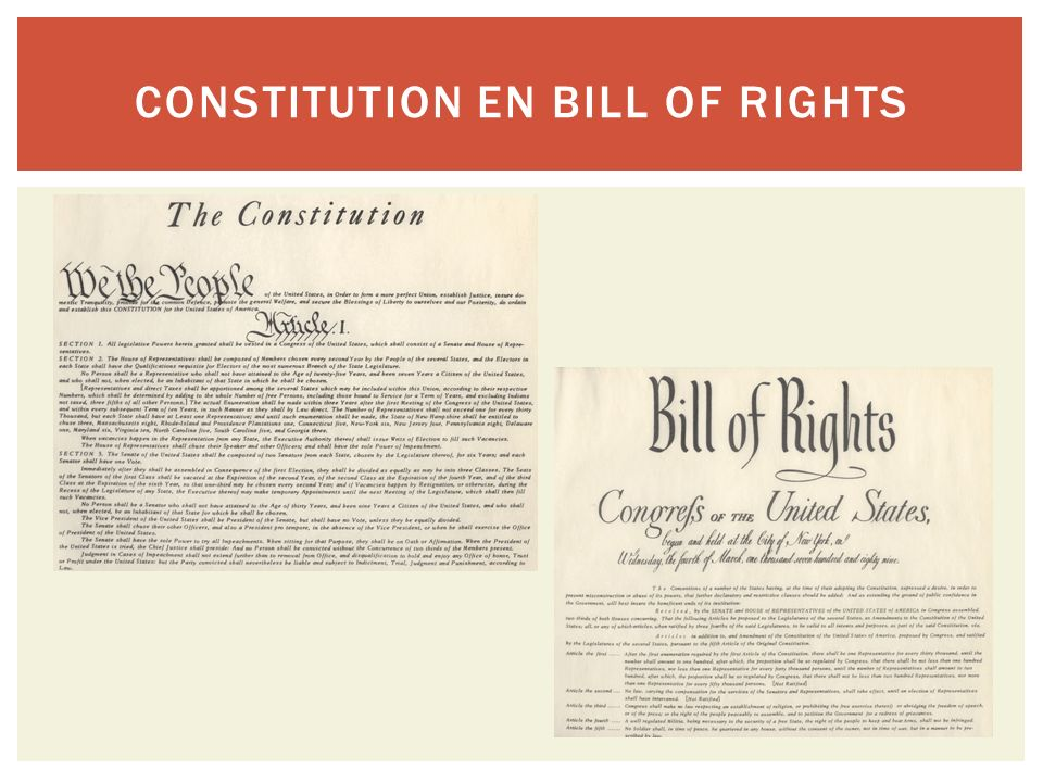 Constitution en Bill of Rights