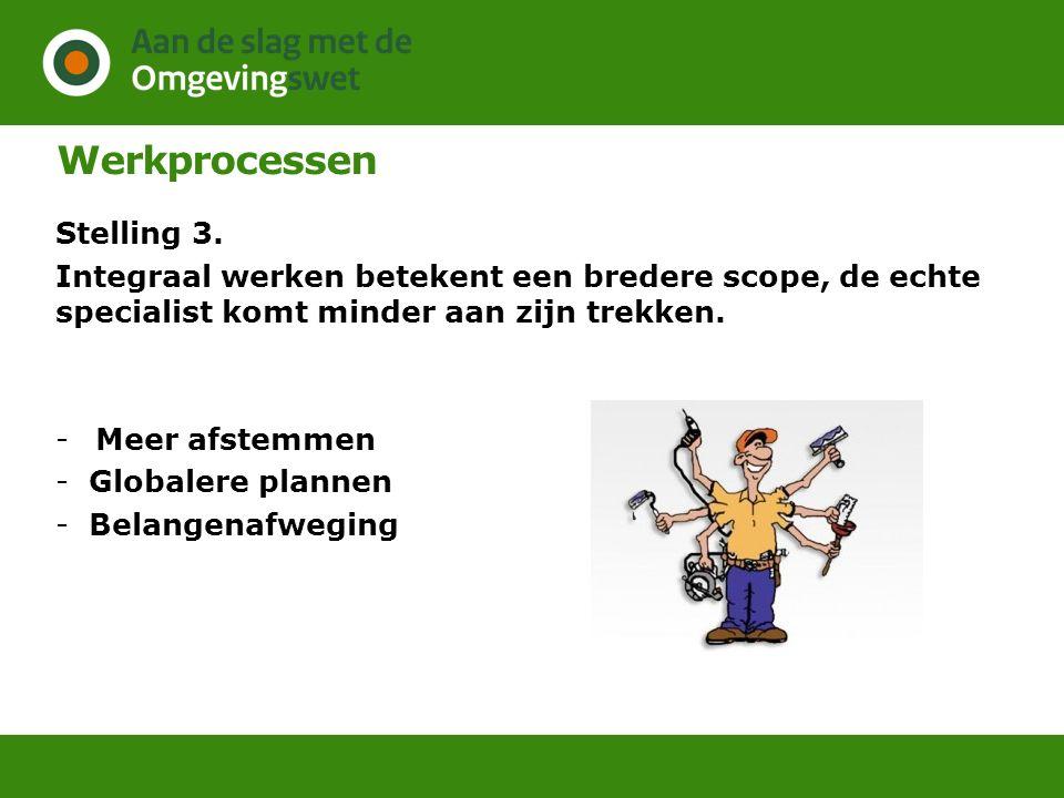 Werkprocessen Stelling 3.