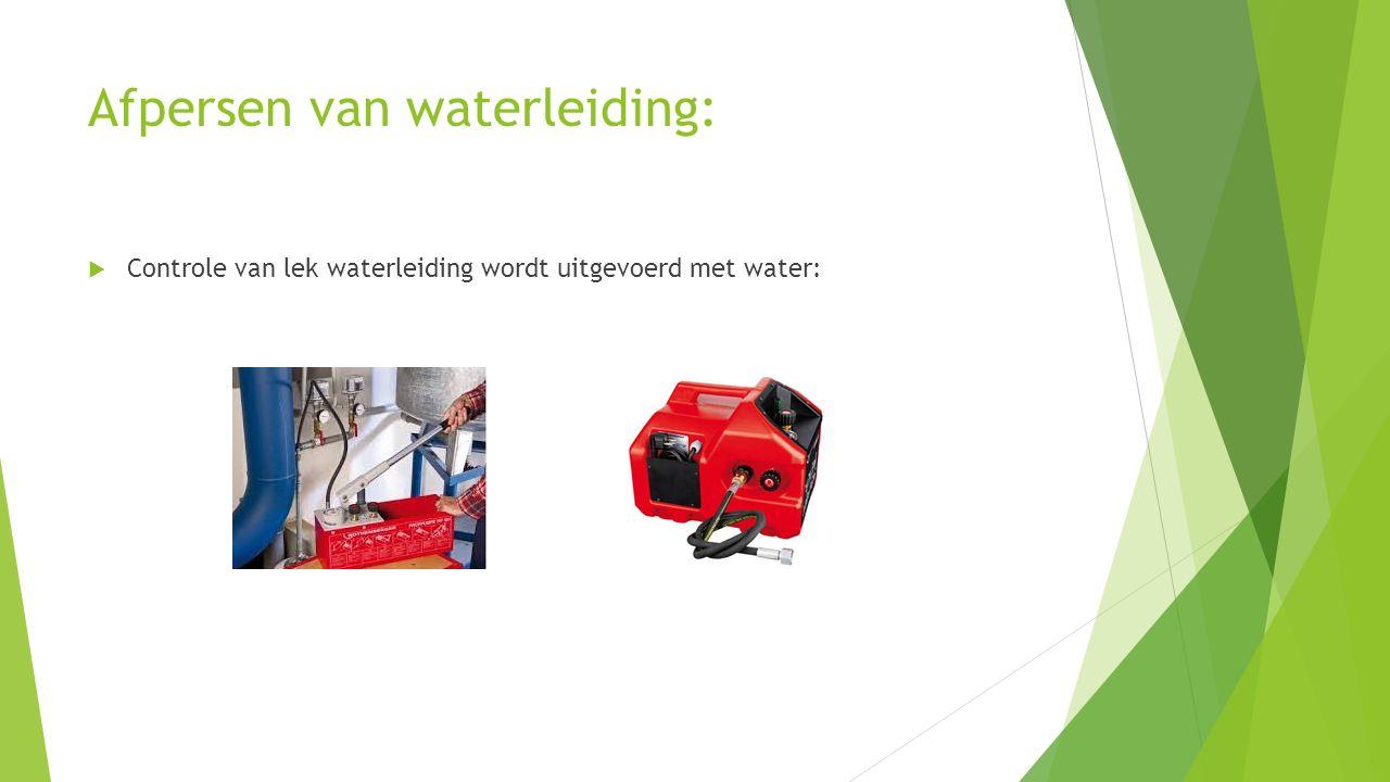 Afpersen van waterleiding: