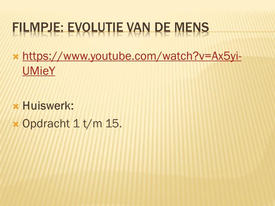 Filmpje: Evolutie van de mens