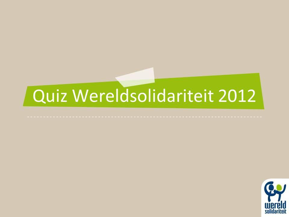 Quiz Wereldsolidariteit 2012
