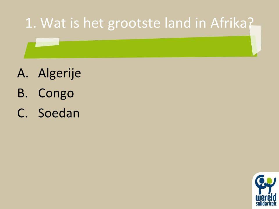 1. Wat is het grootste land in Afrika