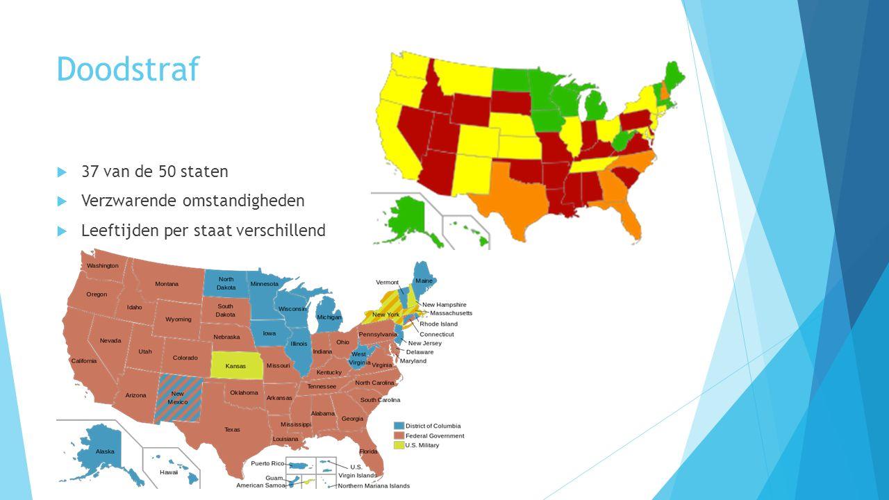 Doodstraf 37 van de 50 staten Verzwarende omstandigheden