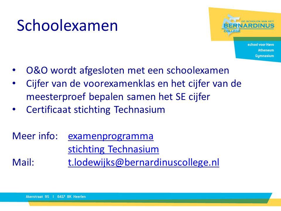 Schoolexamen O&O wordt afgesloten met een schoolexamen