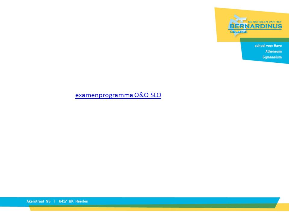 examenprogramma O&O SLO