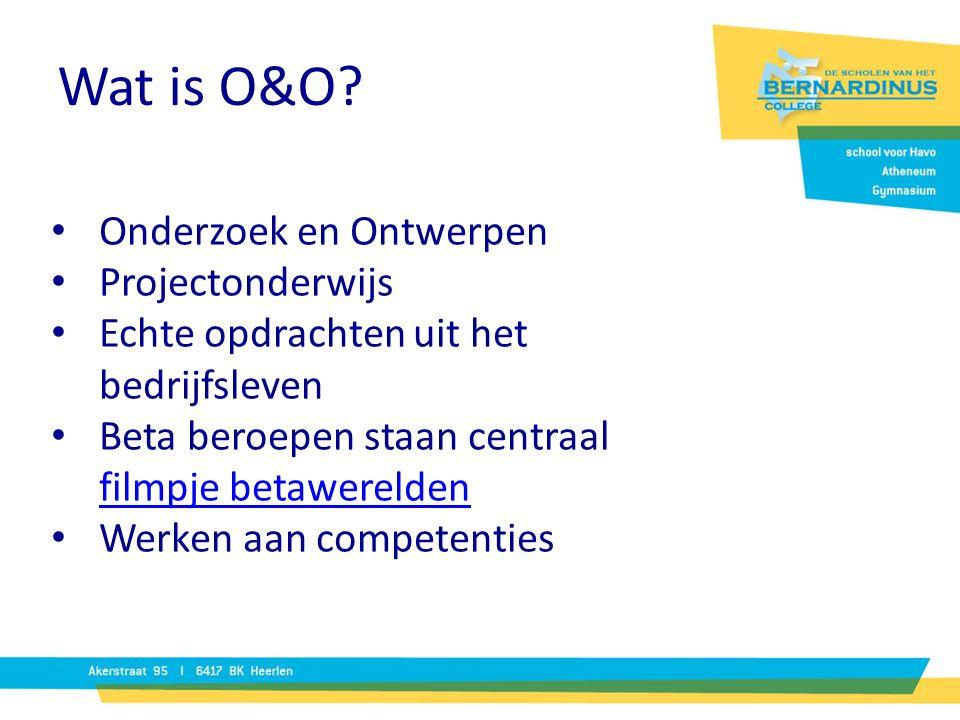Wat is O&O Onderzoek en Ontwerpen Projectonderwijs