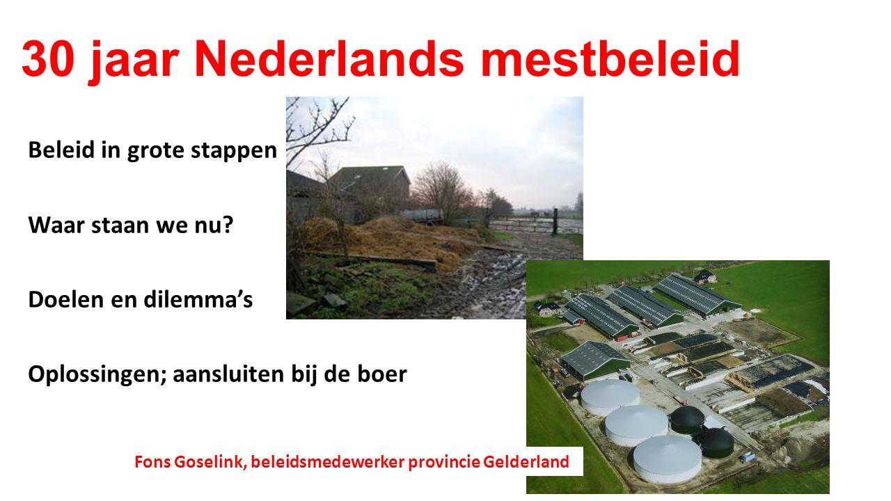 30 jaar Nederlands mestbeleid