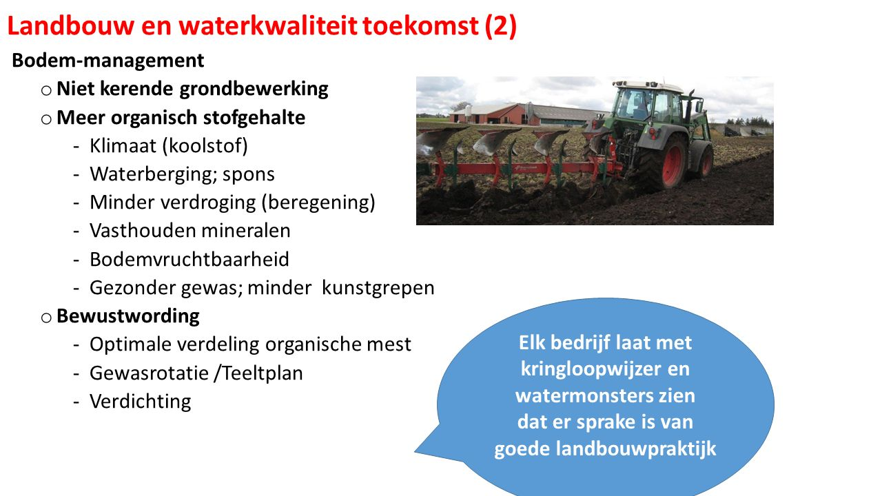Landbouw en waterkwaliteit toekomst (2)