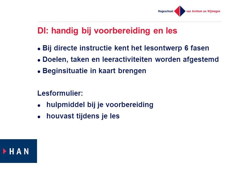 DI: handig bij voorbereiding en les