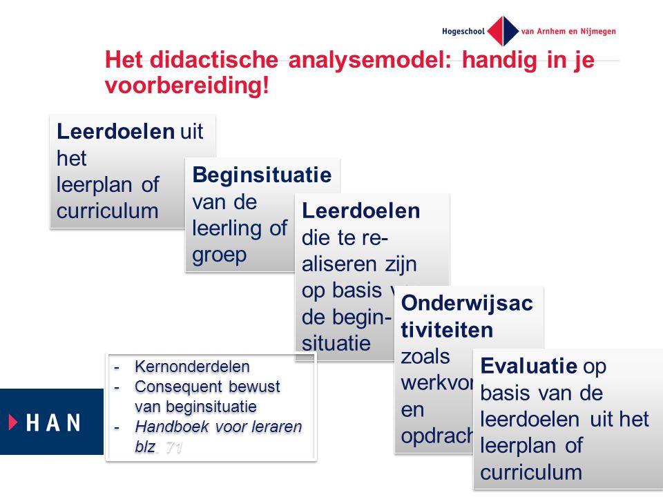 Het didactische analysemodel: handig in je voorbereiding!