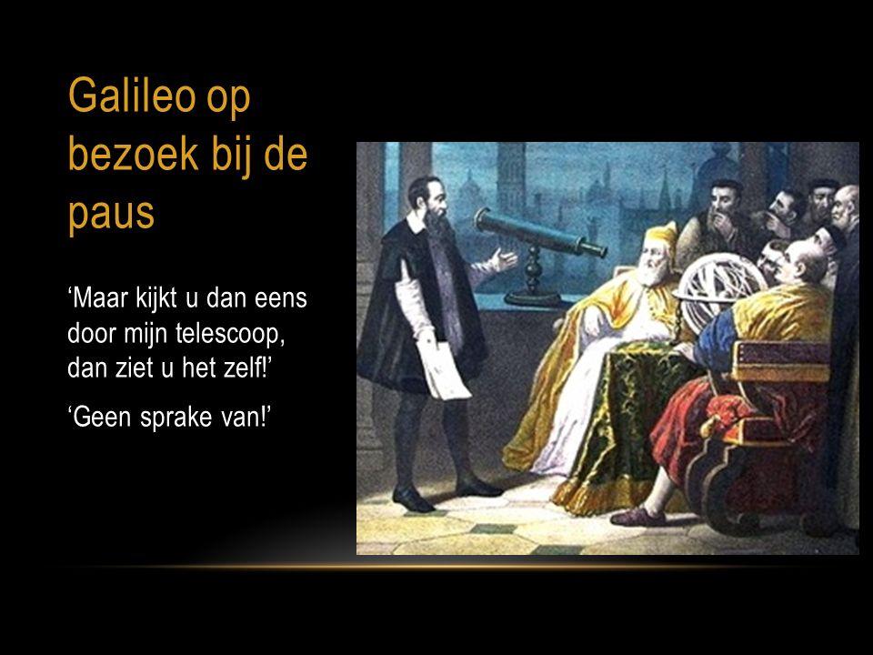 Galileo op bezoek bij de paus