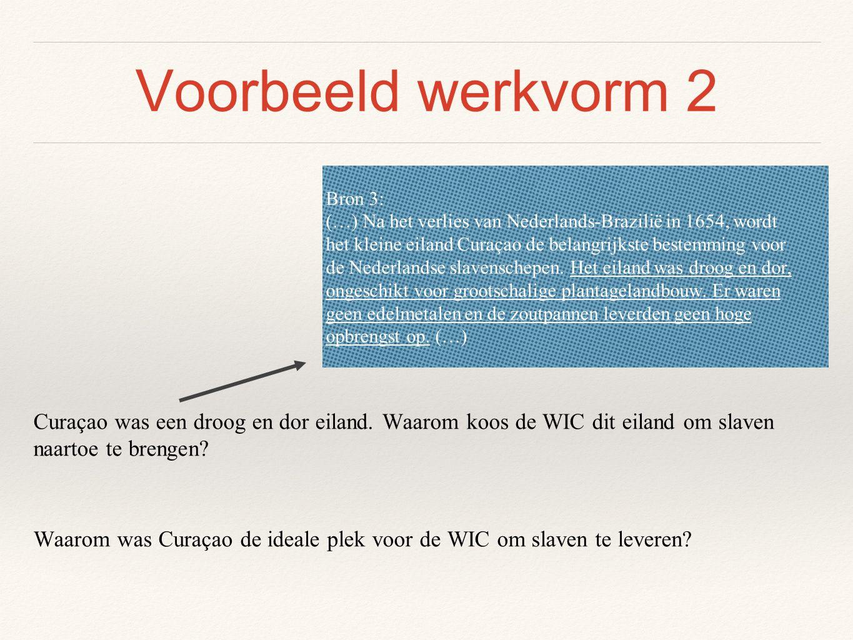 Voorbeeld werkvorm 2 Bron 3: