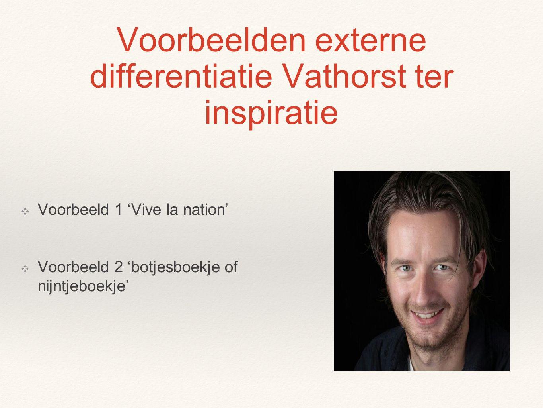 Voorbeelden externe differentiatie Vathorst ter inspiratie